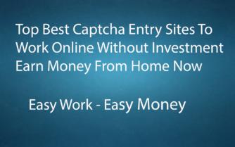 Best Captcha Entry Sites