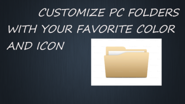Customize Folder With Your Favorite Color And Icon