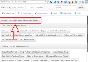 Tap Start Facebook Social For Facebbok Account